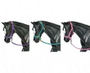 Hot Coloured Nylon Halters - Traditional Scale